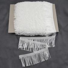 Bild 1 Fransenborte Drellierfranse  Wollweiß 60 mm breit