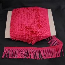 Bild 1 Fransenborte Drellierfranse Pink 60 mm breit
