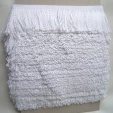 Bild 1 Fransenborte Drellierfranse Weiß 60 mm breit