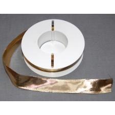 Bild 1 Lurexborte mit Drahtkante Gold 25 mm breit