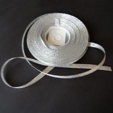 Bild 1 Lurexborte Silber 6 mm breit