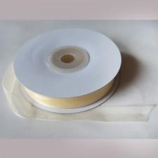 Bild 1 Organzaband Creme 12 mm breit