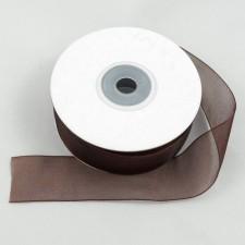 Bild 1 Organzaband Braun 25 mm breit