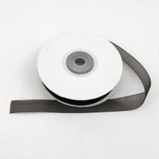 Bild 1 Organzaband Dunkelbraun 12 mm breit