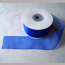 Bild 1 Organzaband Royalblau 40 mm breit