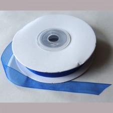 Bild 1 Organzaband Royalblau 12 mm breit