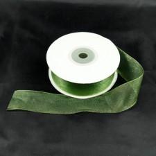 Bild 2 Organzaband Dunkelgrün 25 mm breit