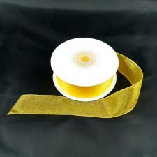 Bild 1 Organzaband Gelbgold 25 mm breit