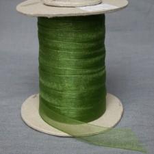 Bild 1 Organzaband Grün 12 mm breit