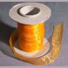 Bild 1 Organzaband Orange 25 mm breit
