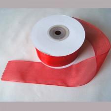 Bild 1 Organzaband Rot 40 mm breit