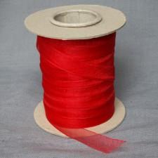 Bild 1 Organzaband Rot 12 mm breit