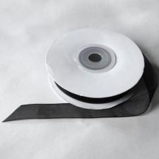 Bild 1 Organzaband Schwarz 12 mm breit