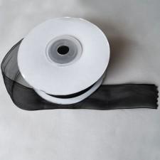 Bild 1 Organzaband Schwarz 25 mm breit