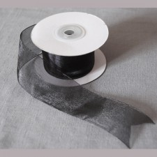 Bild 1 Organzaband Schwarz 40 mm breit