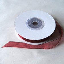 Bild 1 Organzaband Weinrot 12 mm breit