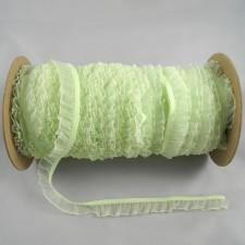 Bild 1 Rüschenband Grün elastisch dehnbar 18 mm breit