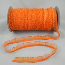 Bild 1 Rüschenband Orange elastisch dehnbar 18 mm breit