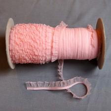 Bild 1 Rüschenband Rosa elastisch dehnbar 18 mm breit