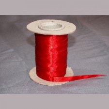 Bild 1 Doppelsatinband Rot 10 mm breit