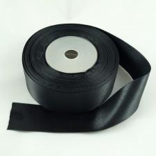 Bild 1 Doppelsatinband Schwarz 30 mm breit