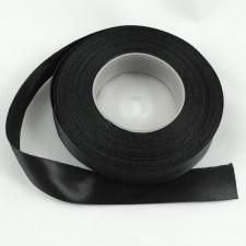 Bild 1 Doppelsatinband Schwarz 20 mm breit