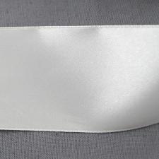 Bild 1 Doppelsatinband Weiss 40 mm breit