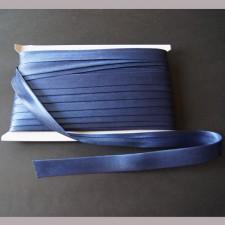 Bild 1 Schrägband Satin Dunkelblau gefälzt 15 mm breit