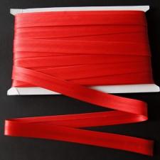 Bild 1 Schrägband Satin Rot gefälzt 15 mm breit