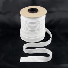 Bild 1 Schrägband Baumwolle Weiß gefälzt 15 mm breit