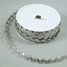 Bild 1 Zick Zack Borte Silber 9 mm breit