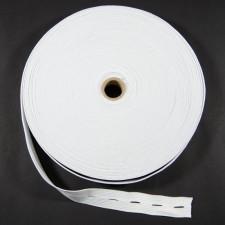 Bild 1 Lochgummiband / Lochgummi Weiß 25 mm breit