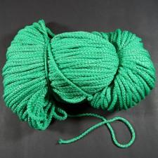 Bild 1 Kordel Polyester Grün mit Goldfaden 5 mm