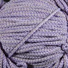 Bild 1 Kordel Polyester Lavendel mit Goldfaden 5 mm
