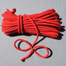 Bild 1 Kordel Baumwolle Rot 8 mm