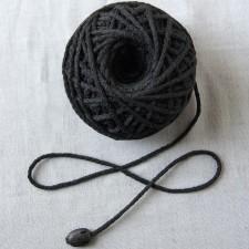 Bild 1 Kordel Baumwolle Schwarz. Durchmesser 3 mm