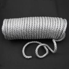 Bild 1 Dekokordel Siber Metallic 8 mm