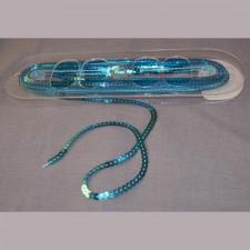 Bild 1 Paillettenband Pailletten Türkis 6 mm breit