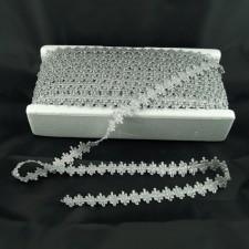 Bild 1 Posamentenborte Silber glitzernd 20 mm breit