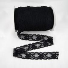 Bild 1 Elastische Spitze Schwarz 3,5 cm breit Nr. 120