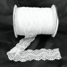Bild 1 Elastische Spitze Weiss 5,5 cm breit Nr. 128