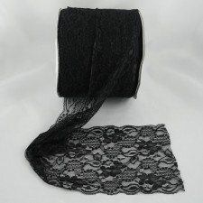 Bild 1 Elastische Spitze Schwarz 15 cm breit Nr. 136
