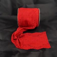 Bild 1 Elastische Spitze Rot 13,5 cm breit Nr. 139