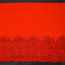 Bild 1 Elastische Spitze Rot 28 cm breit Nr. 155