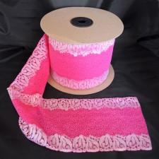 Bild 3 Elastische Spitze Pink 15 cm breit Nr. 168