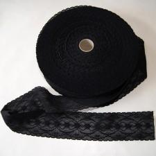 Bild 1 Elastische Spitze Schwarz 5,5 cm breit Nr. 19