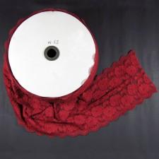 Bild 1 Elastische Spitze Weinrot 15 cm breit Nr. 62