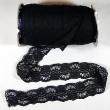 Bild 1 Elastische Spitze Schwarz 4,5 cm breit Nr. 69