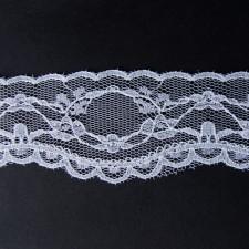 Bild 2 Nichtelastische Spitze Weiss 5 cm breit Nr. 7