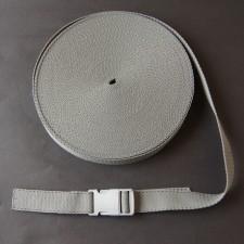 Bild 1 Gurtband Taschengurt Grau mit Faden 25 mm breit